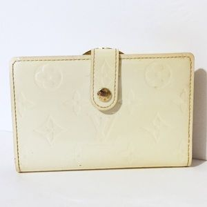 Louis Vuitton white vernis Viennois wallet